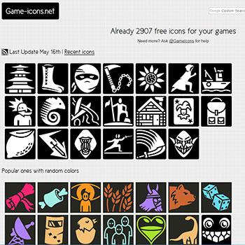 自由度高い!大量のゲームアイコン Game-icons.net