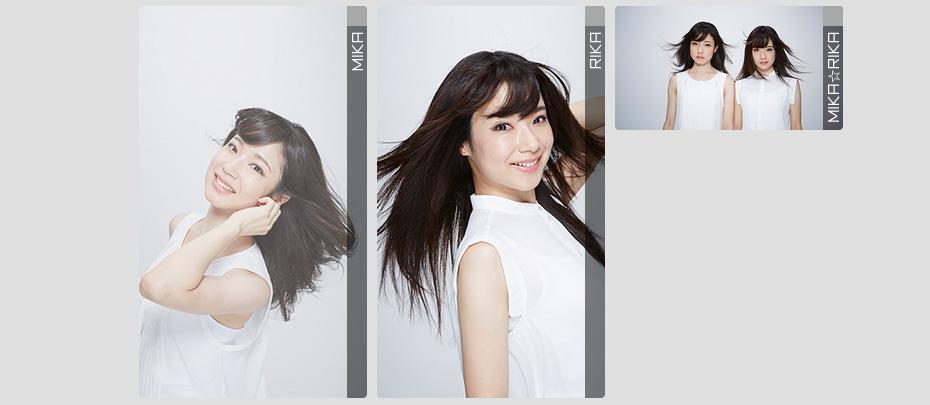 フリー素材アイドル MIKA☆RIKA 広告カテゴリ