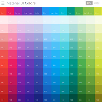 Material UI Colors