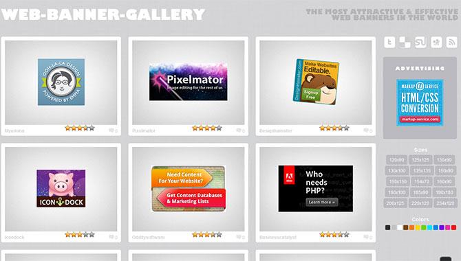 海外のバナーデザインギャラリー Web Banner Gallery