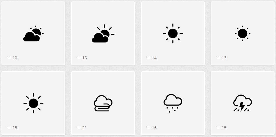 Endless Icons 天気