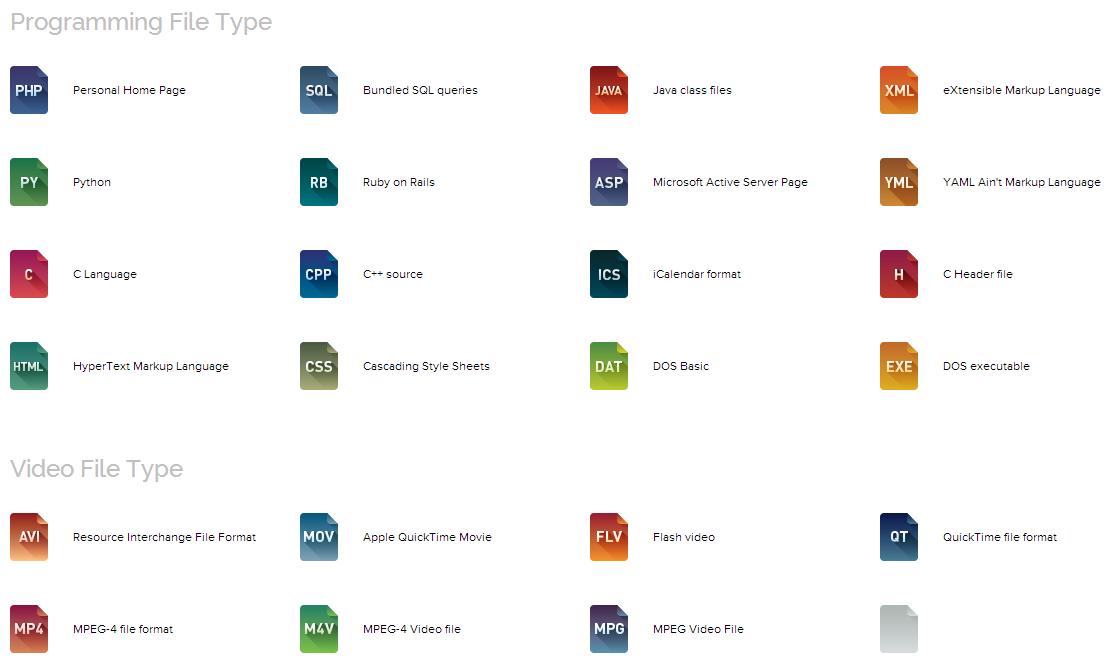 File Type Icons アイコン