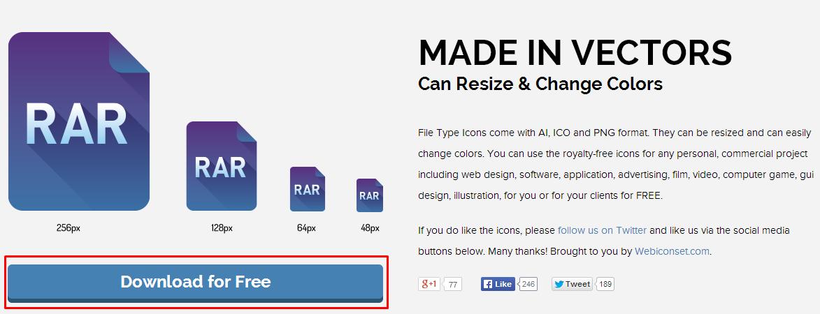 File Type Icons ダウンロード