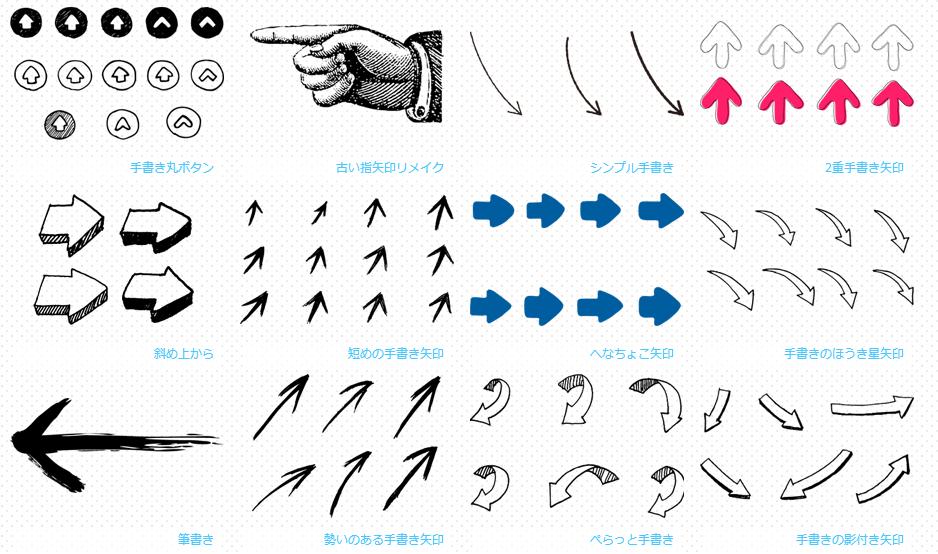 矢印デザイン 手書き矢印
