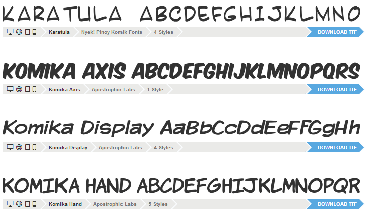 Font Squirrel コミックフォント