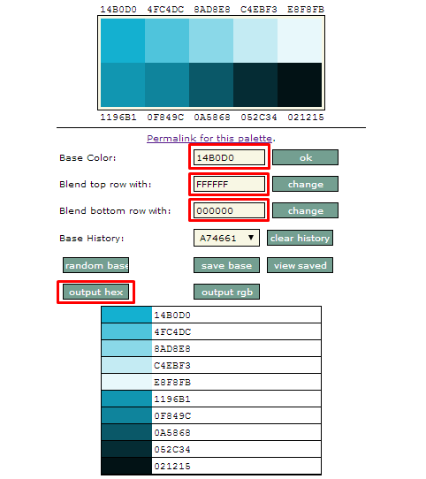 Color Palette Creator 使い方
