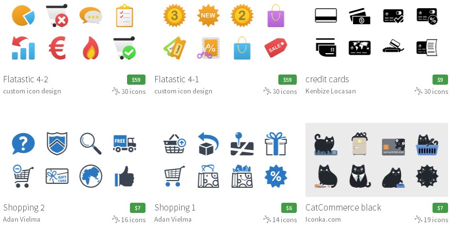 Iconfinder Shopping & e-commerce (Eコマース)