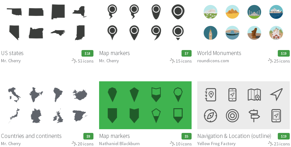 Iconfinder Maps & navigation (地図&ナビ)