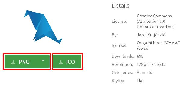 Iconfinder 無料ダウンロードページ