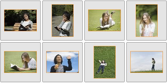 model.foto 学生・カジュアル写真素材