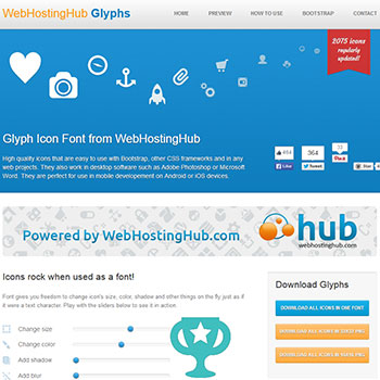 アイコン配布サイト WebHostingHub Glyphs