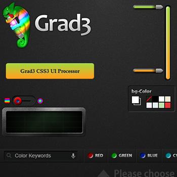 CSS3グラデーション作成サービス Grad3