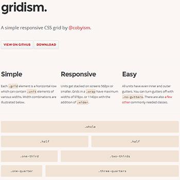 フレームワーク gridism.