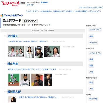 Yahoo! Japan 急上昇ワード